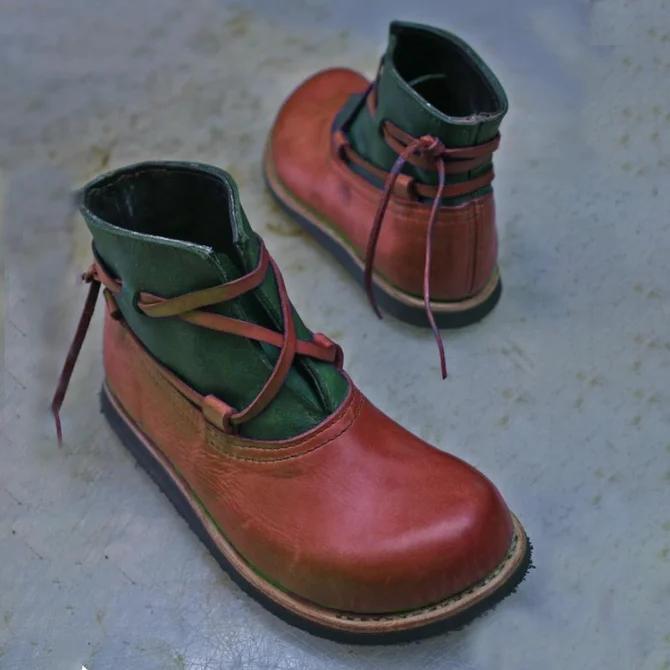 Pu Color Block Boots