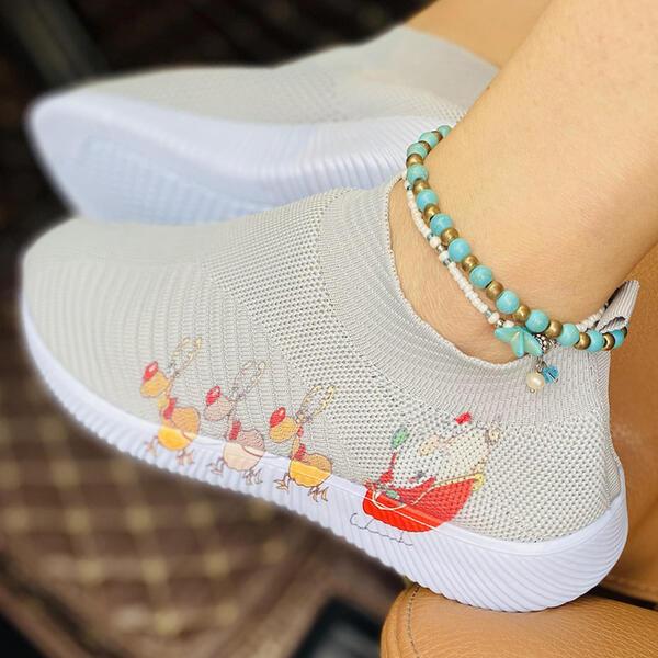 >>Christmas Gift |Women's Mesh Flat Heel Flats Low Top With Elastic Band Shoes