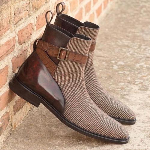 Vinage Classic Dress Chelsea Winter Zipper Boot Shoes