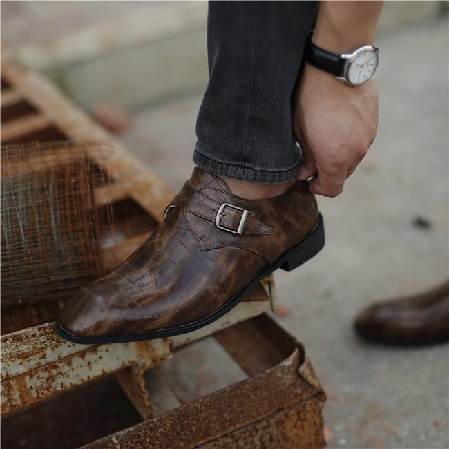 Men PU Leather Brogue Dress Shoes