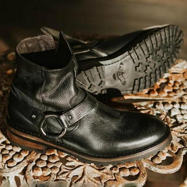Men's Cowboy Vintage British Daily Boots Walking Shoes