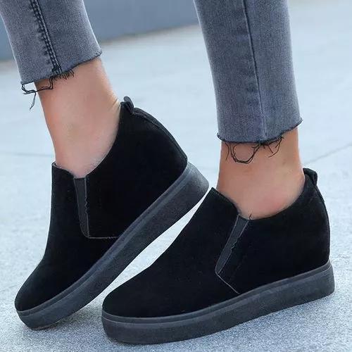 Women's Low Top Cloth Flat Heel Shoes