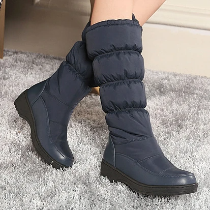 Winter Warm Wild Round Head Flats Boots