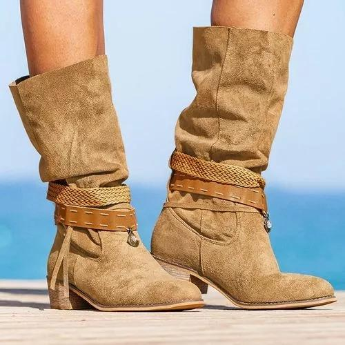 Women's Lace-up Mid-Calf Boots