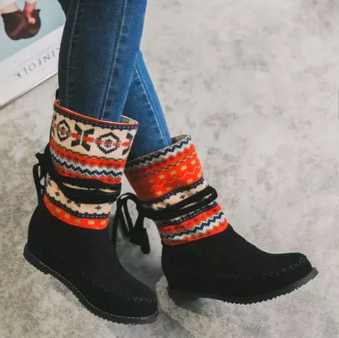 >>Christmas Gift  Wedge Heel Daily Leather Boots