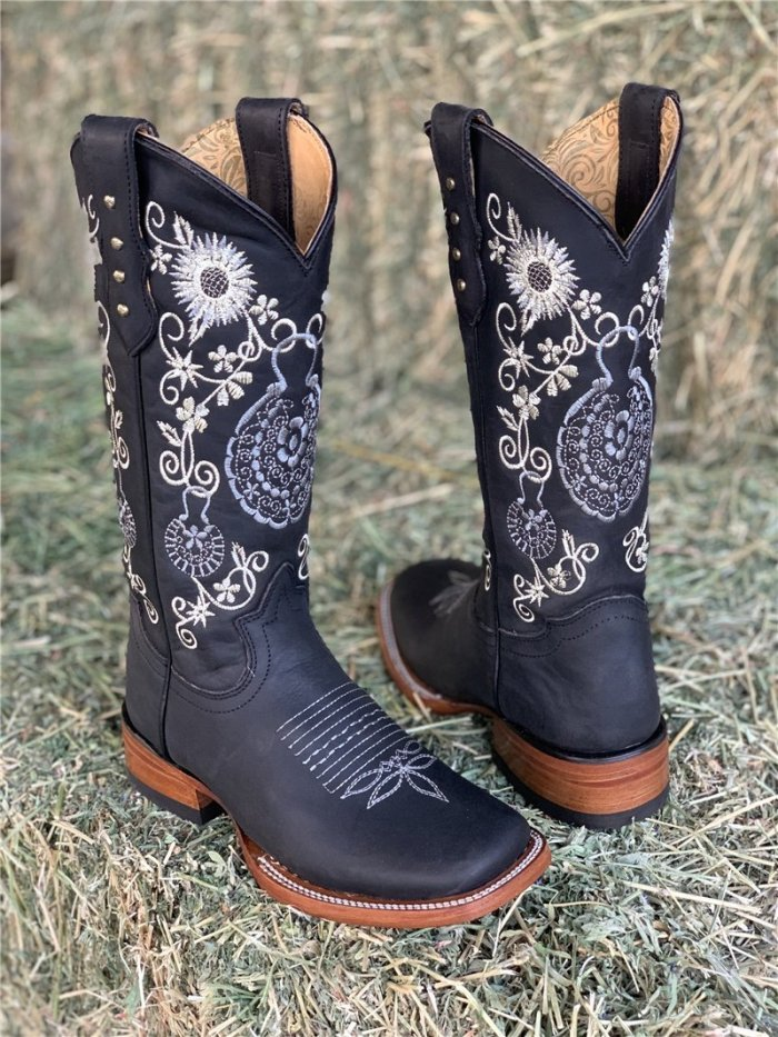 Women's Embroidered Western Boots