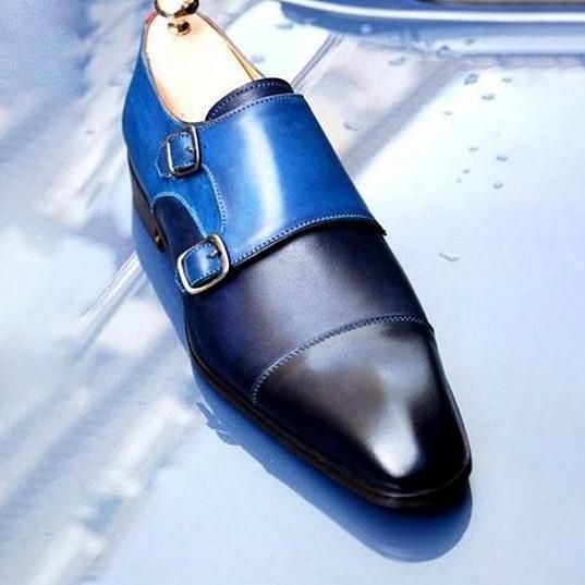 Men Vintage Casual Classic Trendy Male Monk Strap Shoes