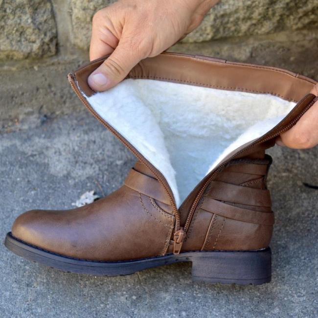 Women's Comfortable Low Heel Ankle Boots