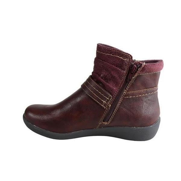 Round Head Casual Women's Ankle Boots