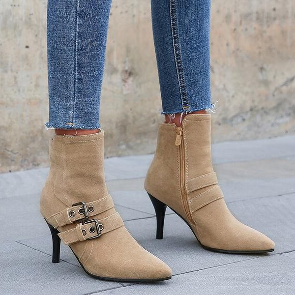 NEW! Women's Leatherette Stiletto Heel Ankle Boots