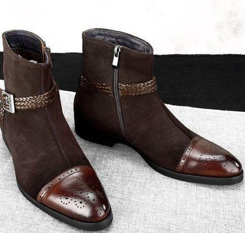 Pure Handmade Jodhpurs Rounded Buckle Strap Boots