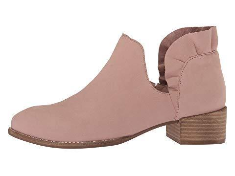 *Slip-on Chunky Heel Boots Nubuck Solid Lace Daily Booties