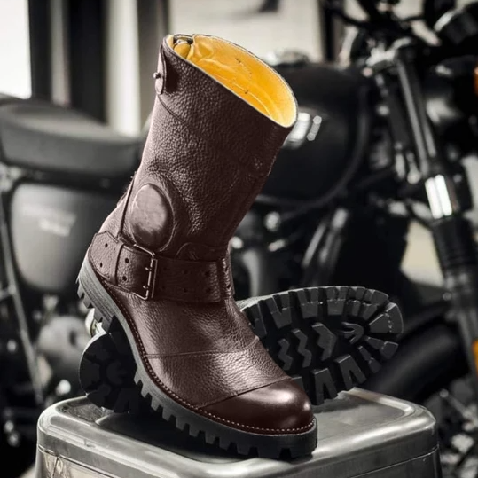 Men's Stylish Motorcycle High-top Ankle Protection Boots