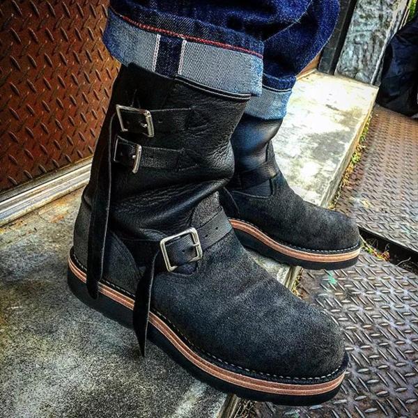 Suede Engineer Boot