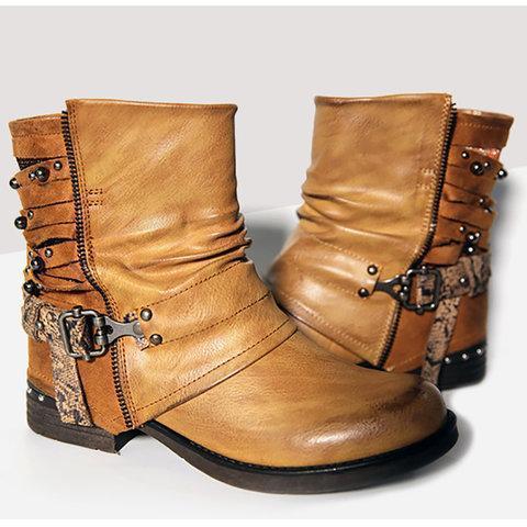 Women Casual Chunky Heel Boots