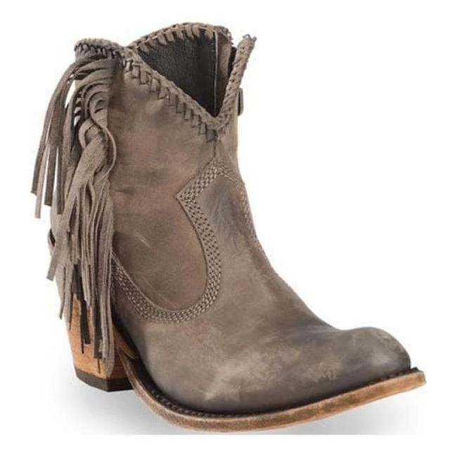 Lady Vintage Suede Chunky Closed Toe Boots