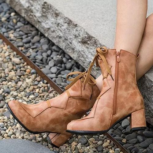 Women's Zipper Mid-Calf Boots