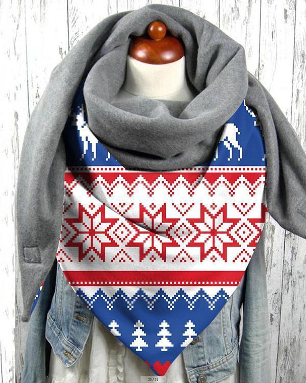 Women Print Cotton-Blend Casual Scarves & Shawls