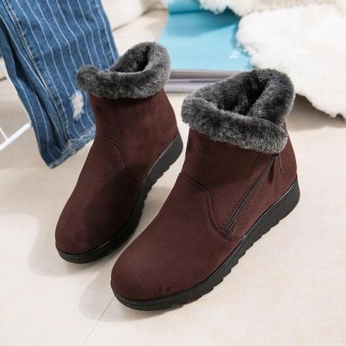 *Women's Waterproof Rain Warm Fur Footwear Ankle Boots