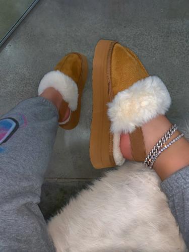 Plush Platform Fashion Slippers
