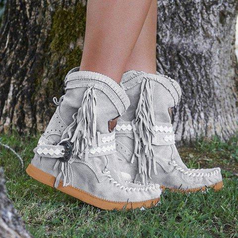 Tassel Faux Suede Winter Boots