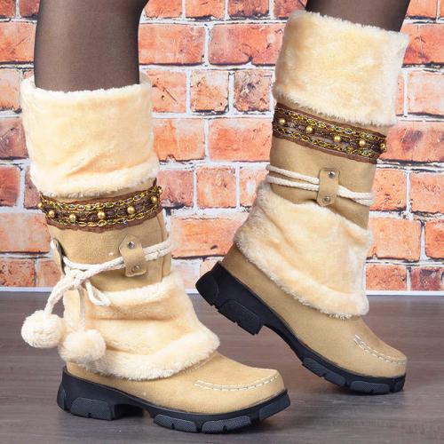 Women Nation Warm Platform Mid-Calf Snow Boots