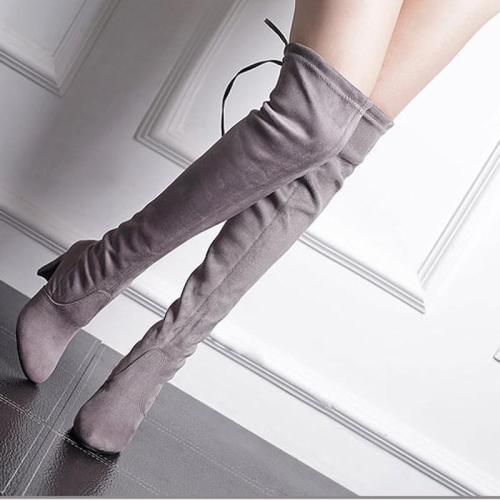 *Sexy Fashion Women's Faux Suede Slim Thigh High Boots Shoes