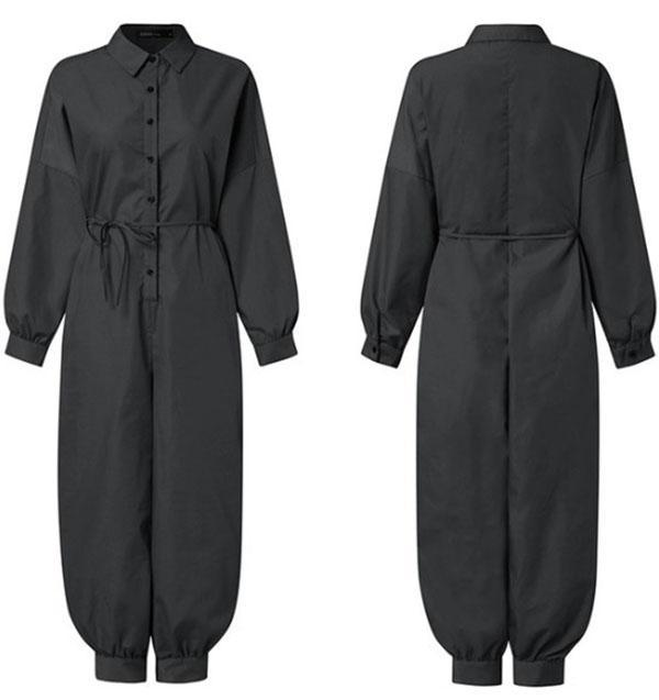 Women's Loose Casual Long Sleeves Jumpsuits