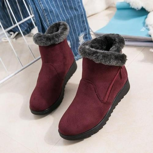 *Women's Waterproof Rain Warm Fur Footwear Ankle Boots
