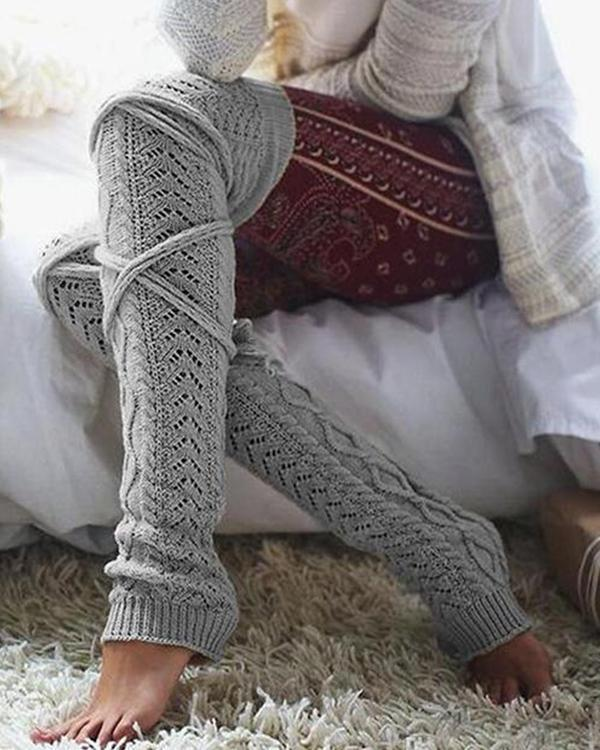 Knitted Over Knee High Thigh Socks