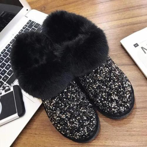 Women Winter Warm Glitter Ankle Boots