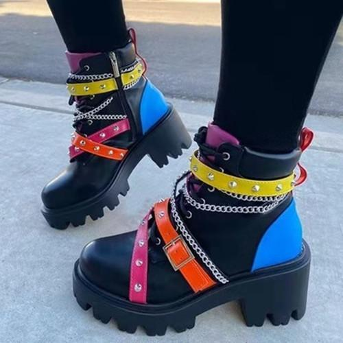 Buckle Fashion Martin Boots