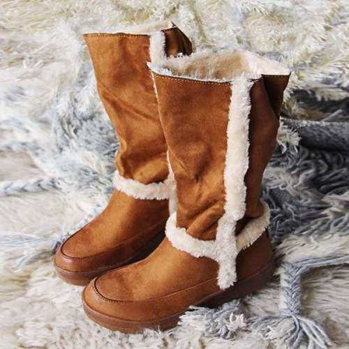 *Women Fuzzy Cascade Cozy Boots
