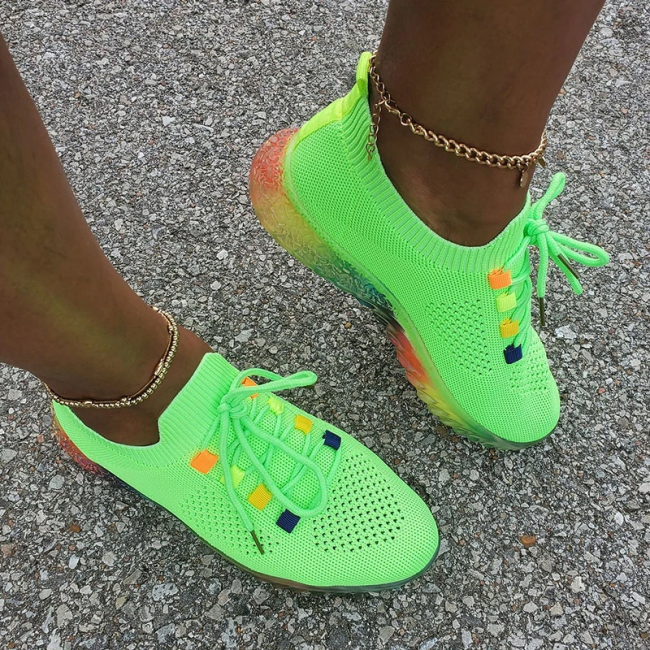 Cute Rainbow Color Breathable Sneakers