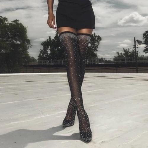 Luxury Rhinestone Stiletto Boots