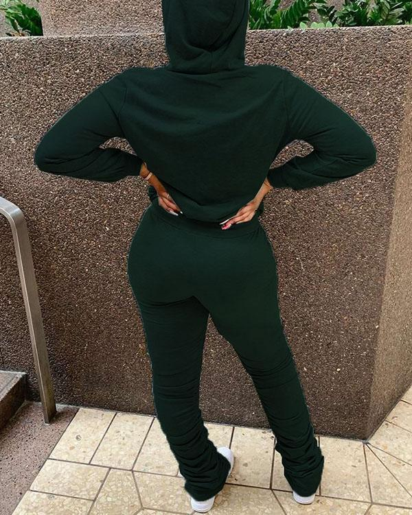 Hooded Sweater Casual Sports Suit