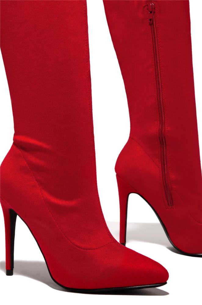 Luxury Thin Heeled Thigh High Boots