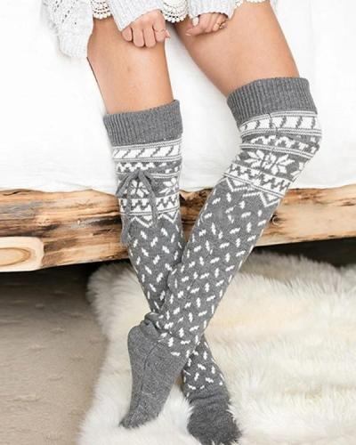 Over Knee Christmas Warm Socks
