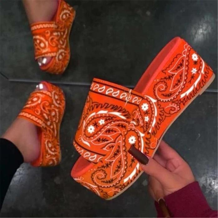 Printed Platform Sandals