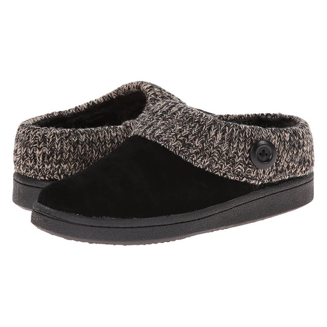 Women Warmth Artificial Suede Slip On Cotton Boots