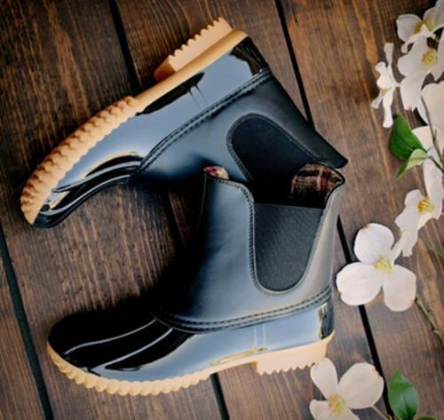Flat Round Toe Casual Outdoor Mid Calf Flat Boots