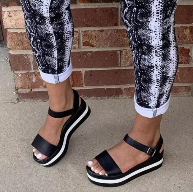 Classic Buckle Sandals