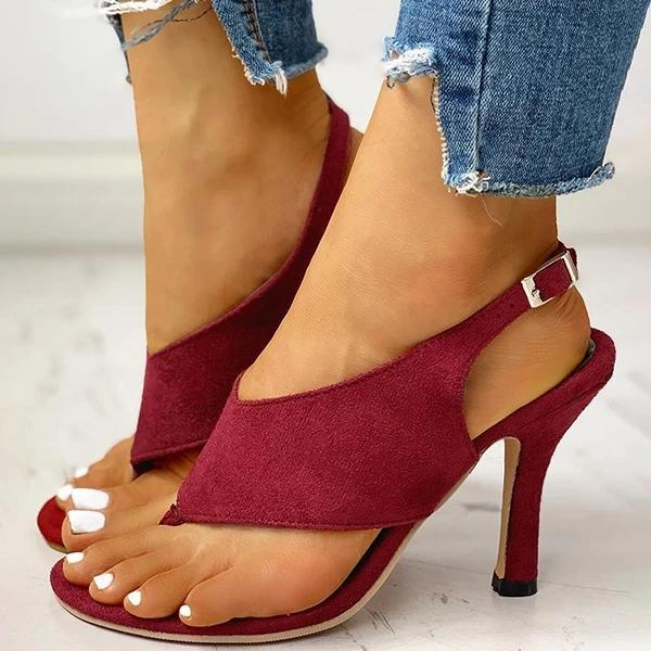 2021 Women Thin Heeled Sandals