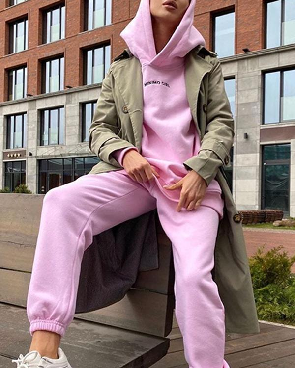 Tracksuits 2 Pieces Sets Street Style Sweatshirt Outfits For Women