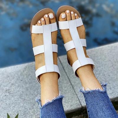 Ankle Hook & Loop Flat Sandals