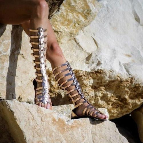 Women Open Toe Roman Sandals