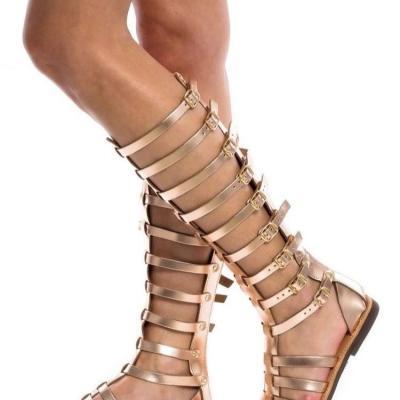 Women Open Toe Roman Sandals