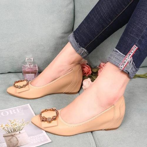 Pu Wedge Heel Slip-On All Season Loafers