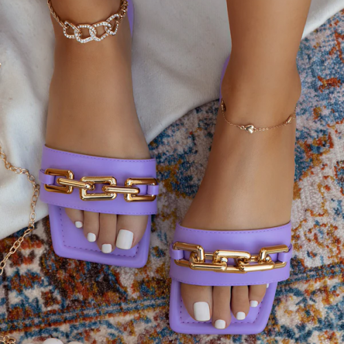 Sexy Flat Leather Sandals