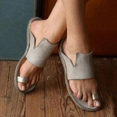 Women Leather Slippers Casual Fashion Flat Strap Shoes